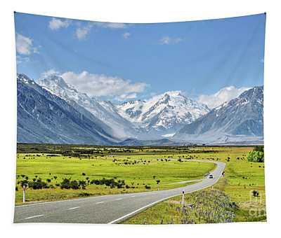 Road To Aoraki Tapestry