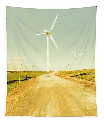 Road To Green Farming Tapestry