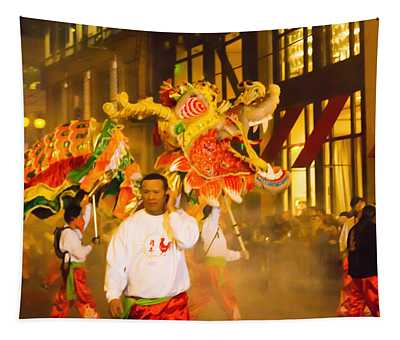 Roar Of The Dragon Tapestry