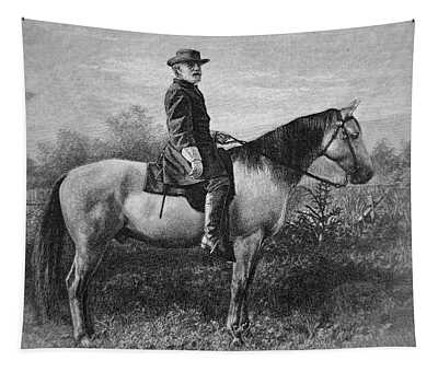 Robert E Lee On His Horse Traveler Tapestry