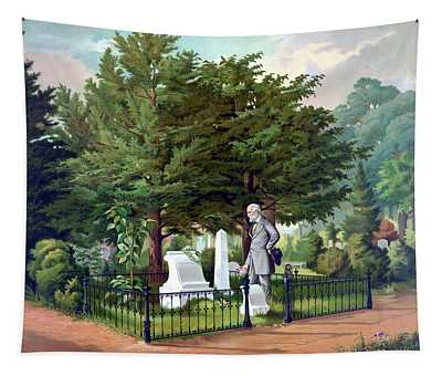 Robert E. Lee Visits Stonewall Jackson's Grave Tapestry