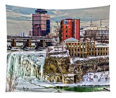 Rochester Winter Panorama Tapestry