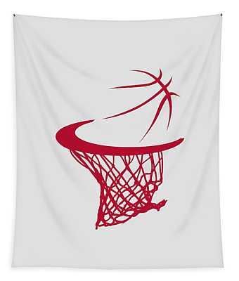Rockets Basketball Hoop Tapestry