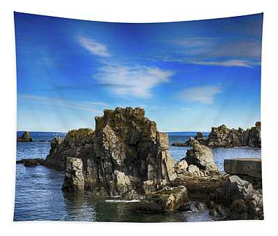 Rocks, Water And Sky Tapestry