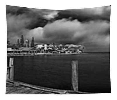 Rod And Reel Pier In Infrared Tapestry