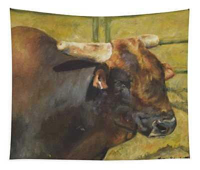 Rodeo Bull 1 Tapestry