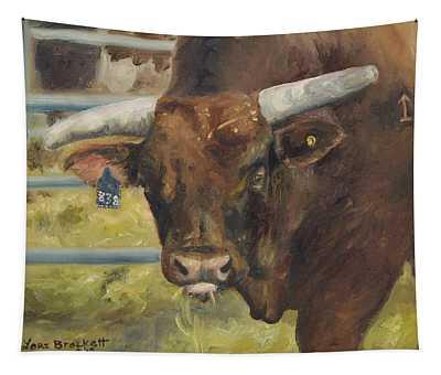 Rodeo Bull 5 Tapestry
