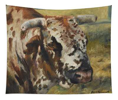 Rodeo Bull 7 Tapestry