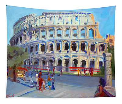 Rome Colosseum Tapestry