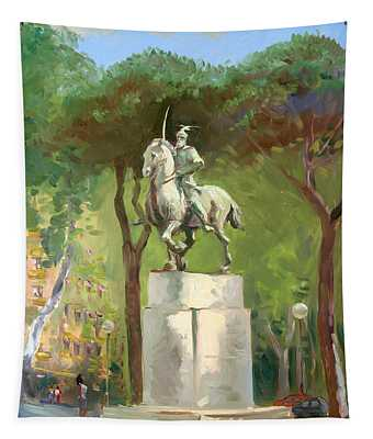 Rome Piazza Albania Tapestry