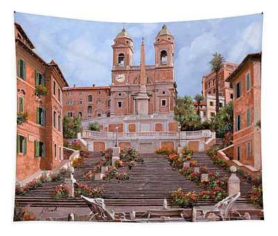 Rome-piazza Di Spagna Tapestry