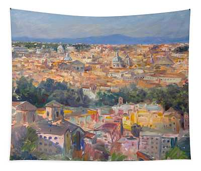 Rome View From Gianicolo Tapestry