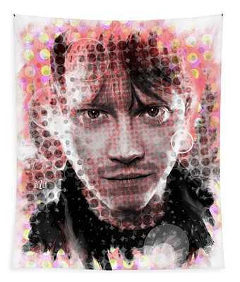 Ron Weasley Halftone Portrait Tapestry