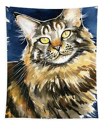 Ronja - Maine Coon Cat Painting Tapestry