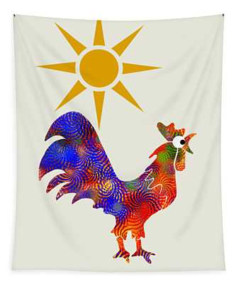 Rooster Pattern Art Tapestry
