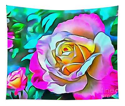 Rose Pink Thick Painted Tapestry