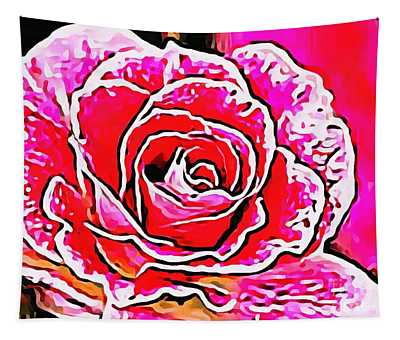 Rose Thick Painted Tapestry
