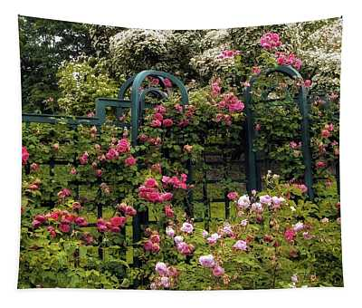 Tapestry featuring the photograph Rose Trellis by Jessica Jenney
