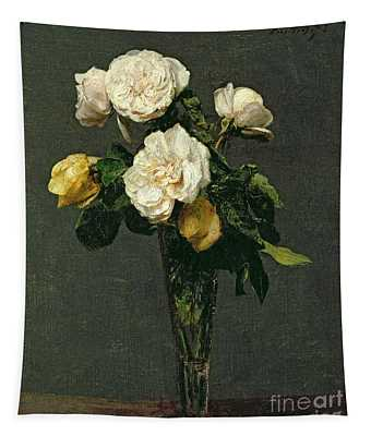 Roses In A Champagne Flute Tapestry