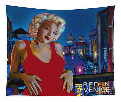 Rot In Venedig / Red In Venice Tapestry
