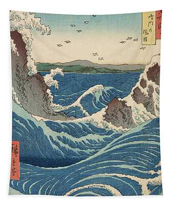 Rough Seas At The Whirlpools Of Awa Tapestry