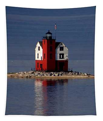 Round Island Lighthouse In The Morning Tapestry