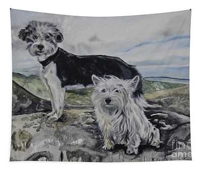 Roxie And Skye Tapestry
