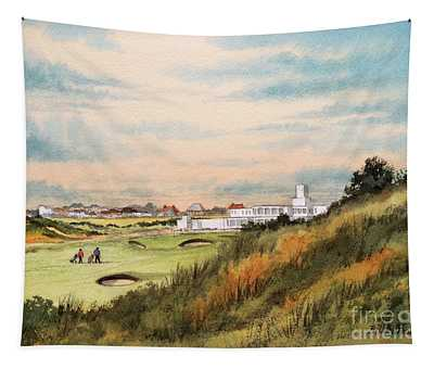 Royal Birkdale Golf Course 18th Hole Tapestry