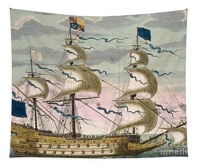 Royal Flagship Of The English Fleet Tapestry