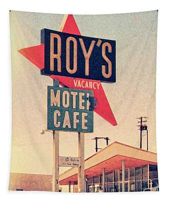 Roy's Motel Tapestry by Delphimages Photo Creations
