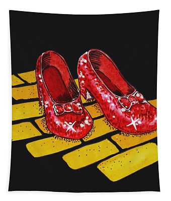 Ruby Slippers From Wizard Of Oz Tapestry