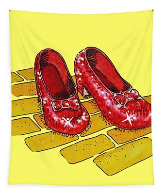 Ruby Slippers Wizard Of Oz Tapestry