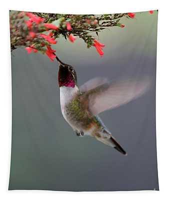 Ruby Throated Hummingbird Tapestry