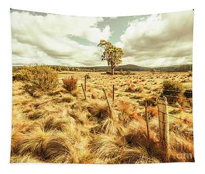 Rugged Australian Pastures Tapestry