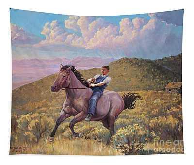 Runaway Roan Tapestry