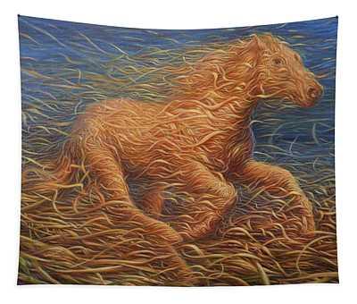 Running Swirly Horse Tapestry