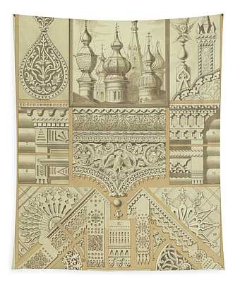 Russian, Architectural Ornaments And Wood Carvings Tapestry