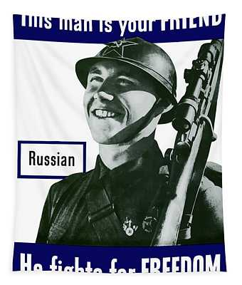 Russian - This Man Is Your Friend Tapestry