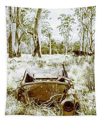 Rustic Australian Car Landscape Tapestry