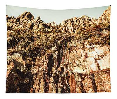 Rustic Cliff Spring Tapestry