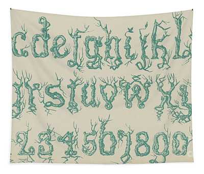 Rustic Font Tapestry