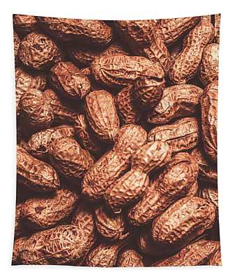 Rustic Nuts Background  Tapestry