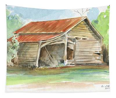 Rustic Southern Barn Tapestry