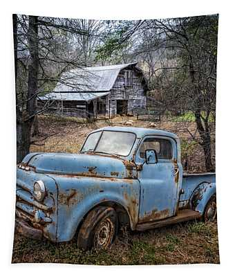 Rusty Blue Dodge Tapestry