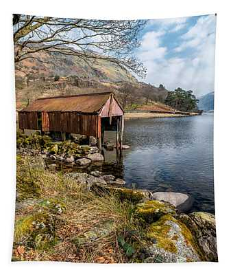 Rusty Boathouse Tapestry