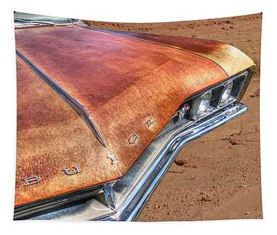 Rusty Buick Tapestry by Gill Billington