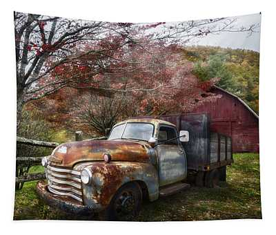 Rusty Chevy Pickup Truck Tapestry
