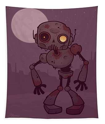 Rusty Zombie Robot Tapestry