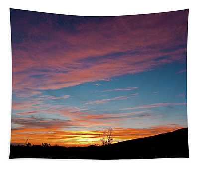 Saddle Road Sunset Tapestry