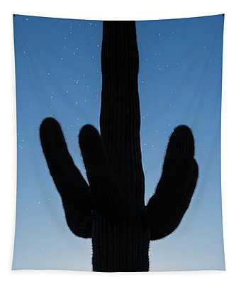 Saguaro Twilight Arizona Tapestry